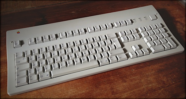 My glorious Apple Extended Keyboard II from 1989