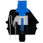 The Cherry MX Blue switch