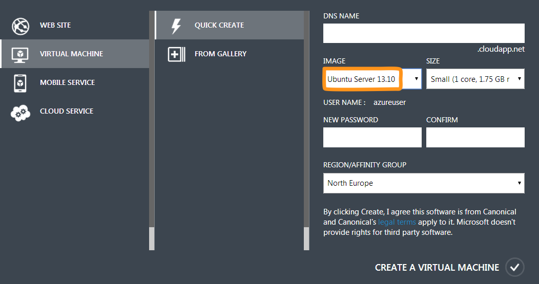 Creating a Linux VM on Azure