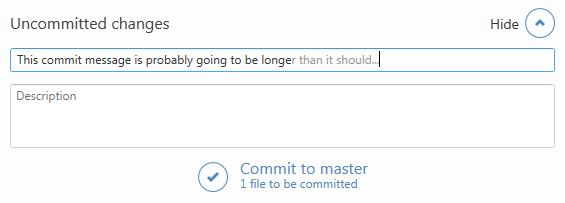 Commit message validation in GitHub for Windows