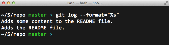 Simple example of pretty-printing the commit history